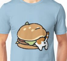 Neko Atsume Cheese Burger Unisex T-Shirt
