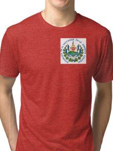 Escudo de El Salvador Tri-blend T-Shirt