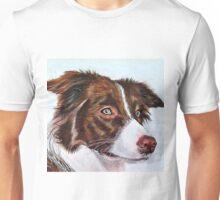 Brown Border Collie Unisex T-Shirt