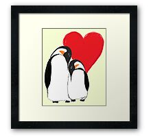 Penguin Partners - Vday edition 2 Framed Print