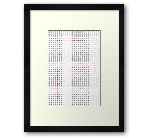 Happy Birthday Word Search Puzzle Framed Print
