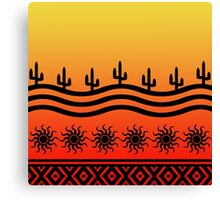 Southwest Desert Cactus Ombre Sunset Canvas Print