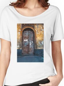 Old Sicilian Door of Catania Women's Relaxed Fit T-Shirt