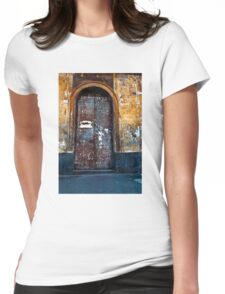 Old Sicilian Door of Catania Womens Fitted T-Shirt