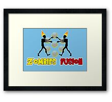 Zombies fusion! - Sayan style Framed Print