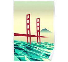 Misty day at the Golden Gate Poster