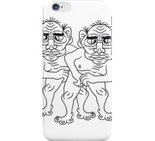 2 naked opas buddies couple love gay gay gay ugly disgusting old man grandpa monster troll iPhone Case/Skin