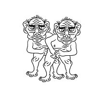 2 naked opas buddies couple love gay gay gay ugly disgusting old man grandpa monster troll Photographic Print