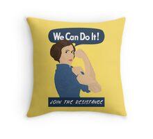 Leia The Riveter Throw Pillow
