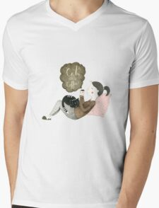 Cats and Coffee Mens V-Neck T-Shirt