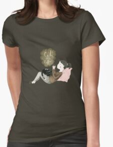 Cats and Coffee Womens Fitted T-Shirt