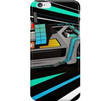 Delorean Time Flux - Blue iPhone Case/Skin