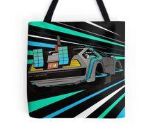 Delorean Time Flux - Blue Tote Bag