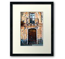 Sicilian Facade of Taormina Framed Print