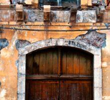 Sicilian Facade of Taormina Sticker
