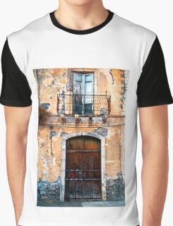 Sicilian Facade of Taormina Graphic T-Shirt