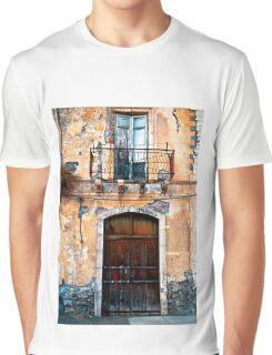 Sicilian Facade of Taormina Graphic T-Shirt