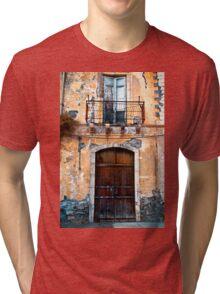 Sicilian Facade of Taormina Tri-blend T-Shirt