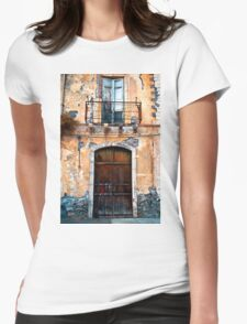 Sicilian Facade of Taormina Womens Fitted T-Shirt