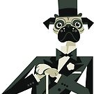 Pug Astaire by drawgood