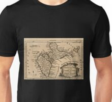 American Revolutionary War Era Maps 1750-1786 062 A map of Guadeloupe one of the Caribby Islands in the West Indies subject to France Unisex T-Shirt