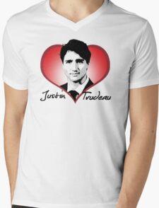 Justin Trudeau Mens V-Neck T-Shirt