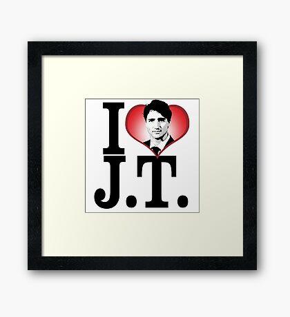 I Love Justin Trudeau Framed Print