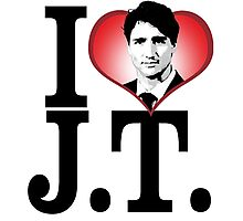 I Love Justin Trudeau Photographic Print