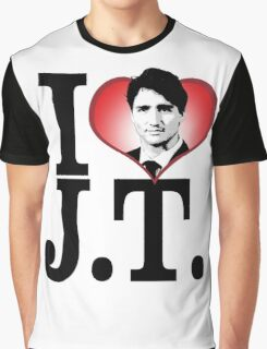 I Love Justin Trudeau Graphic T-Shirt