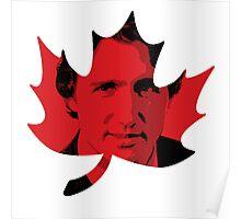 Justin Trudeau Maple Leaf Poster