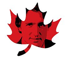 Justin Trudeau Maple Leaf Photographic Print