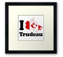 I Love Trudeau Framed Print