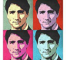Justin Trudeau Pop Art Photographic Print