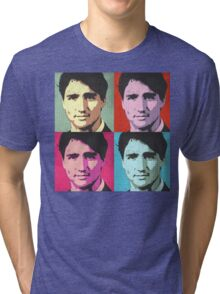 Justin Trudeau Pop Art Tri-blend T-Shirt