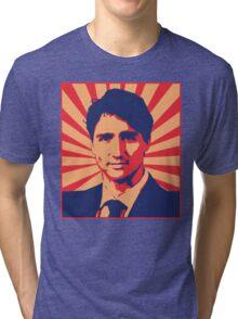 Justin Trudeau Propaganda Art Tri-blend T-Shirt