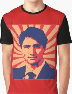 Justin Trudeau Propaganda Art Graphic T-Shirt