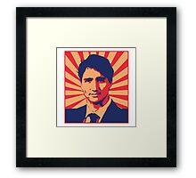 Justin Trudeau Propaganda Art Framed Print