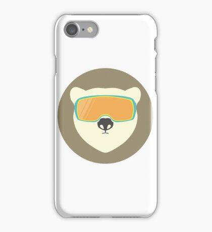 Polar bear with ski mask. iPhone Case/Skin