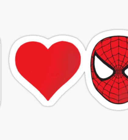 I heart that spider Sticker