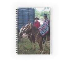 Gaucho Father and Son on Horseback Spiral Notebook