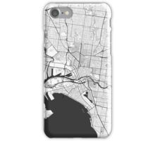 Melbourne City Map Gray iPhone Case/Skin