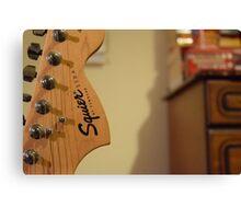 Fender Squire Guitar Head Canvas Print
