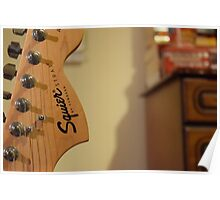 Fender Squire Guitar Head Poster