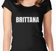 Brittana Black Women's Fitted Scoop T-Shirt