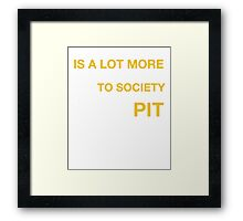 Your ignorance is a lot more dangerous to society than my pitbull Framed Print