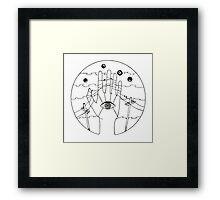 Communication - Black and White Framed Print