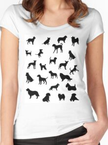 Dogs!! Women's Fitted Scoop T-Shirt