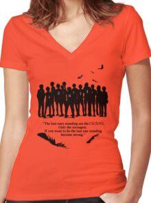 Karasuno Women's Fitted V-Neck T-Shirt