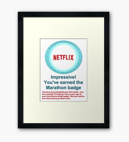 Netflix Binge Badge Framed Print
