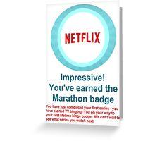 Netflix Binge Badge Greeting Card